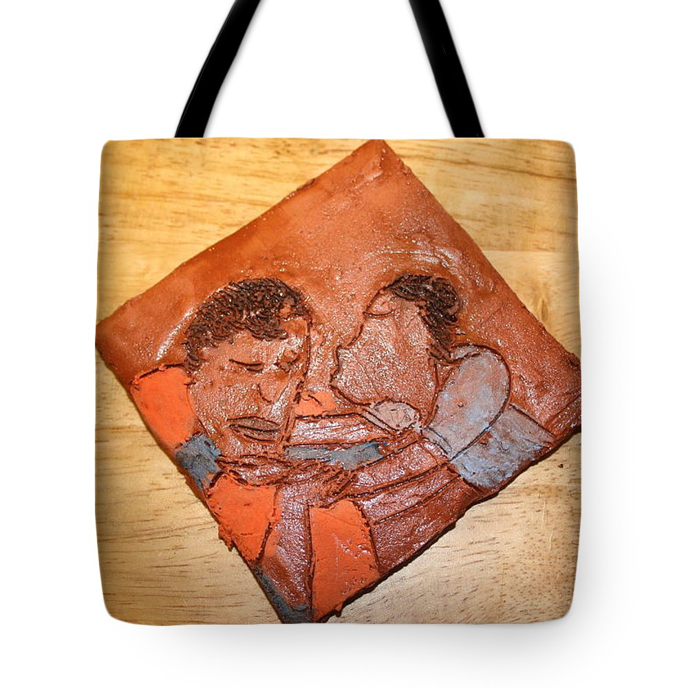 Jesus Tote Bag featuring the ceramic art Akuweeke - Tile by Gloria Ssali