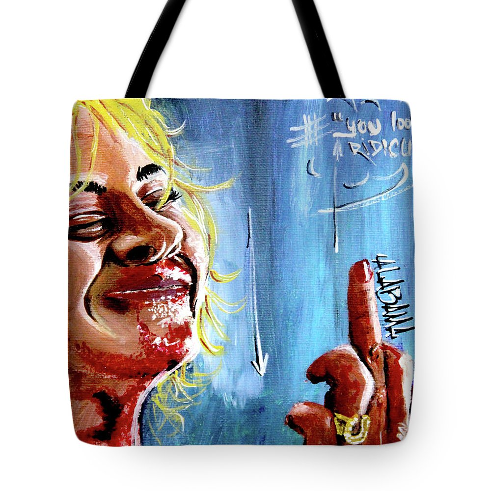 Films Tote Bag featuring the painting Alabama by eVol i
