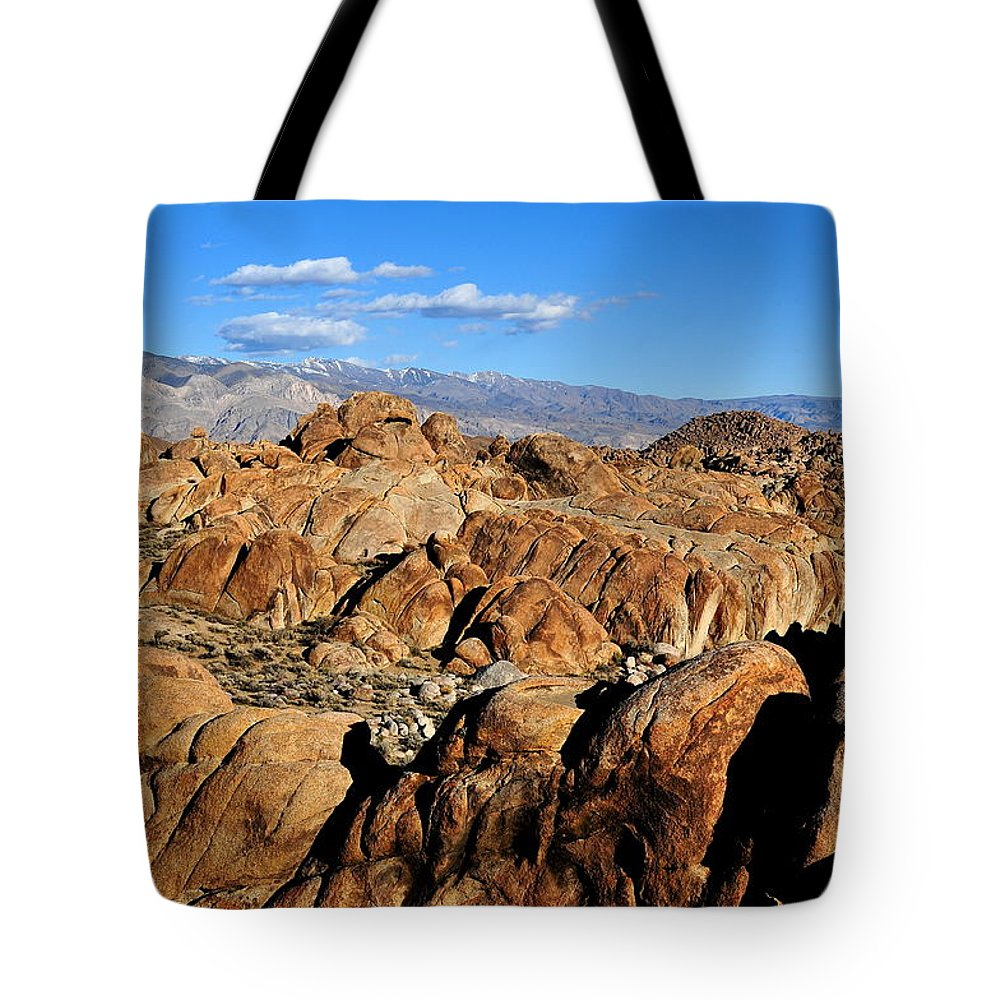 Landscape Tote Bag featuring the photograph Alabama Hills Landscape by Duane Middlebusher