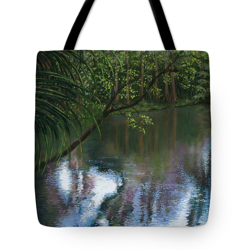 Landscape Tote Bag featuring the painting Alafia River Reflection by Susan Jenkins