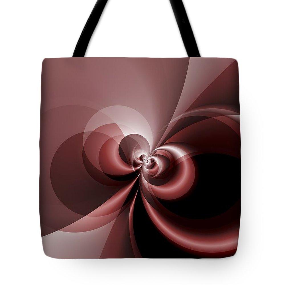 Fractal Tote Bag featuring the digital art Alara by Melanie Mertens