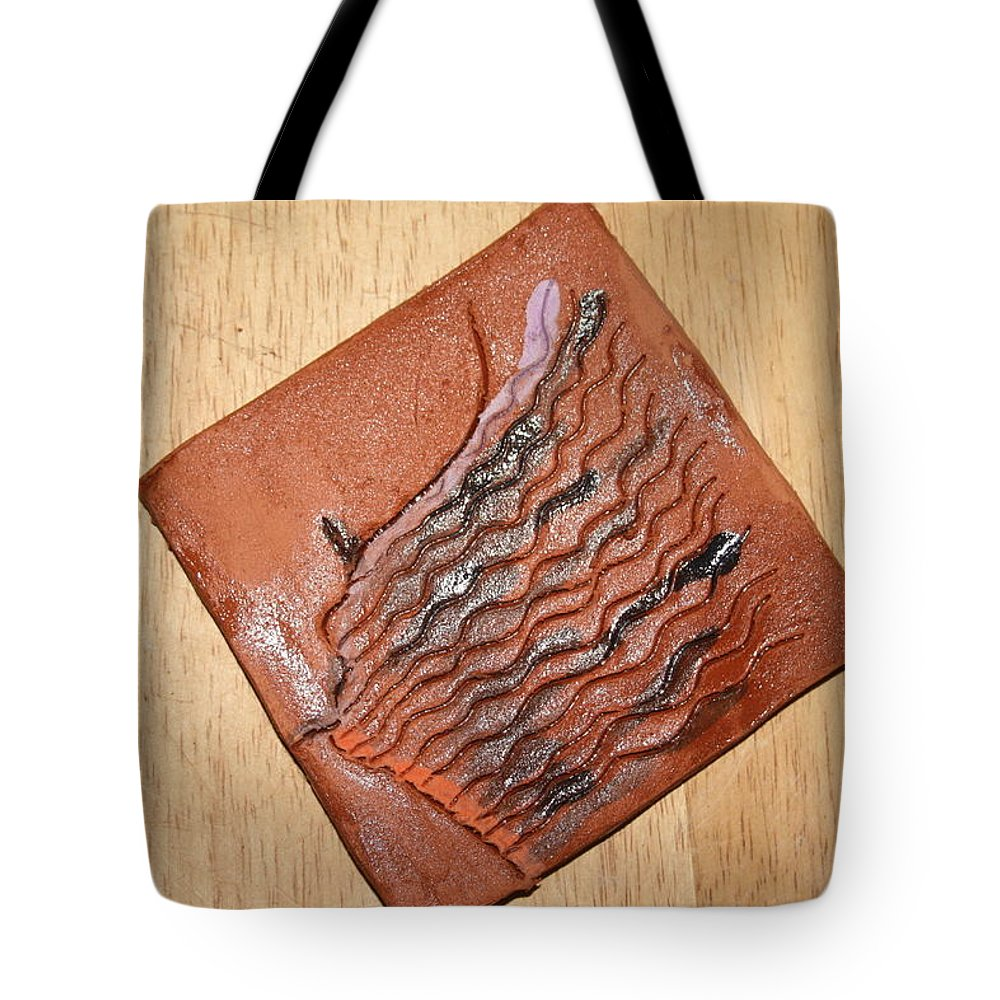 Jesus Tote Bag featuring the ceramic art Alarm - Tile by Gloria Ssali