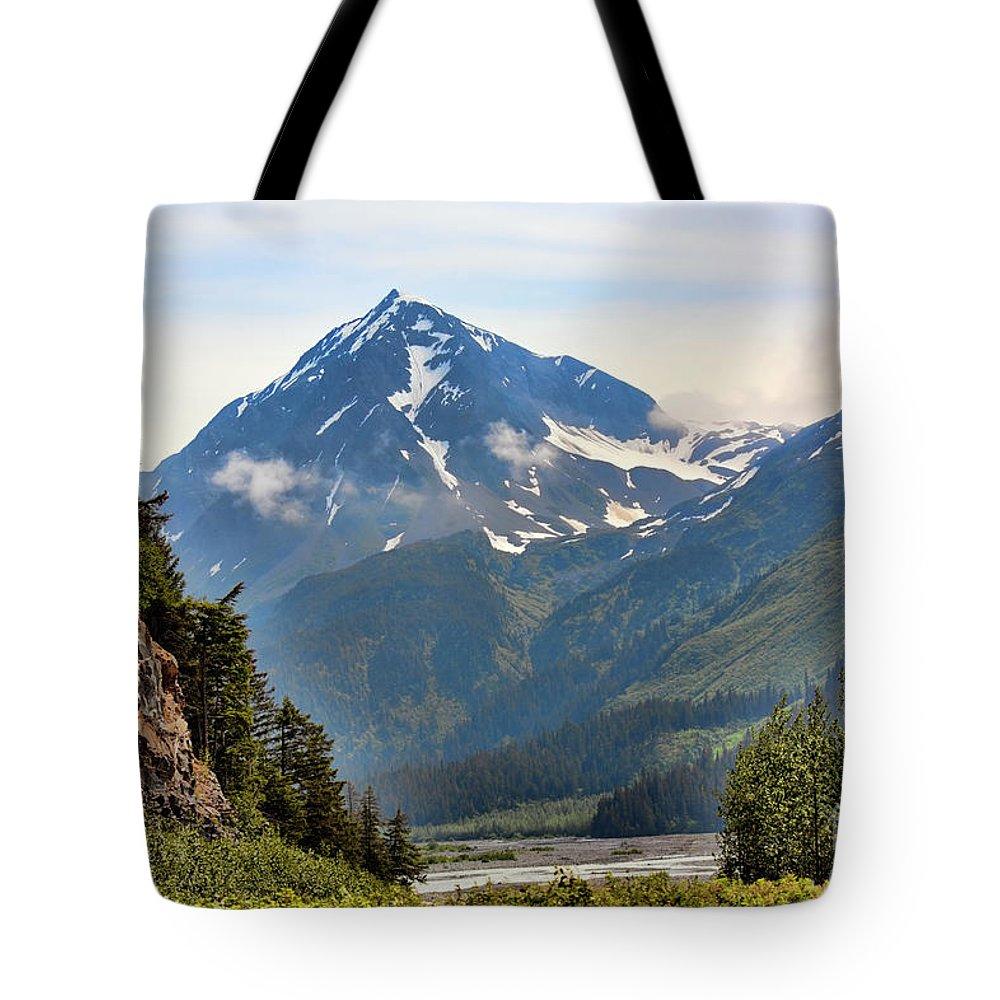 Alaska Tote Bag featuring the photograph Alaska A by Chuck Kuhn