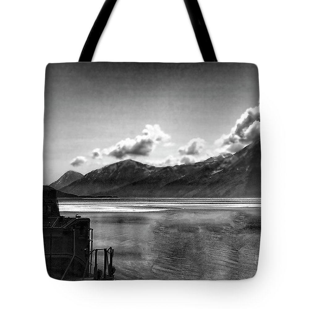 Alaska Tote Bag featuring the photograph Alaska Black by Chuck Kuhn