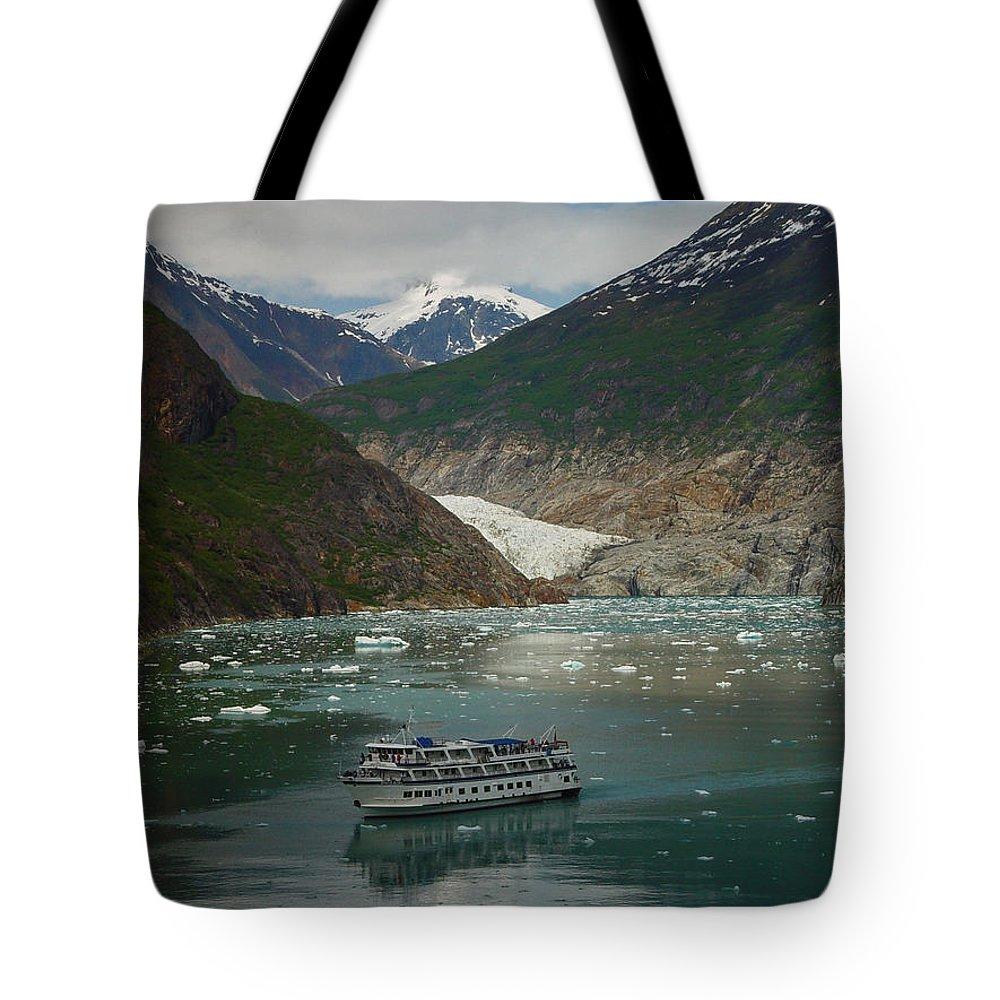 Alaska Tote Bag featuring the photograph Alaska Endicott Glacier by Heather Coen