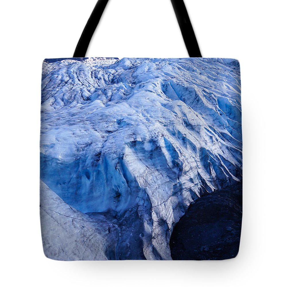 Adventure Tote Bag featuring the photograph Alaska Exit Glacier by Jennifer White