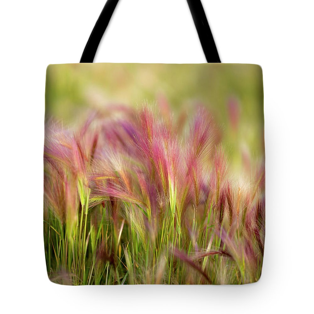 Abstract Tote Bag featuring the photograph Alaska Foxtail by Scott Slone
