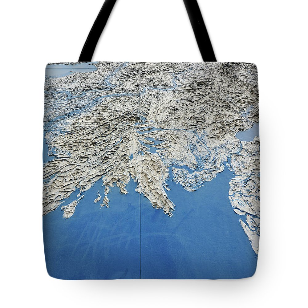 Alaska Tote Bag featuring the photograph Alaska Map Wall Art by Surjanto Suradji