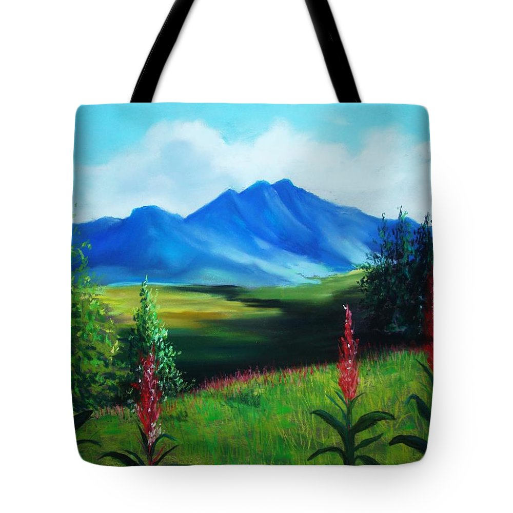 Alaska Tote Bag featuring the pastel Alaska by Melinda Etzold