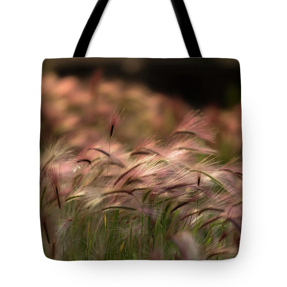 Abstract Tote Bag featuring the photograph Alaskan Summer Foxtail by Scott Slone