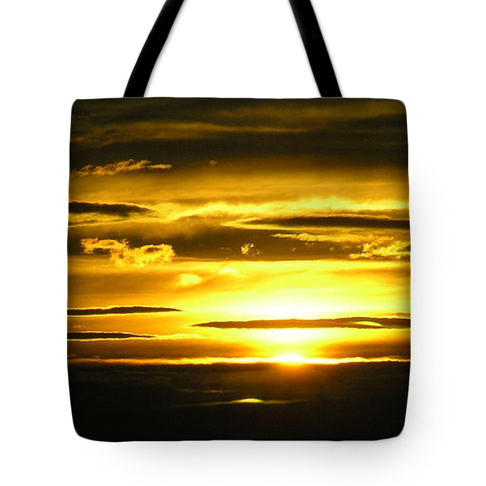 Sunset Tote Bag featuring the photograph Alaskan Sunset by Louise Magno