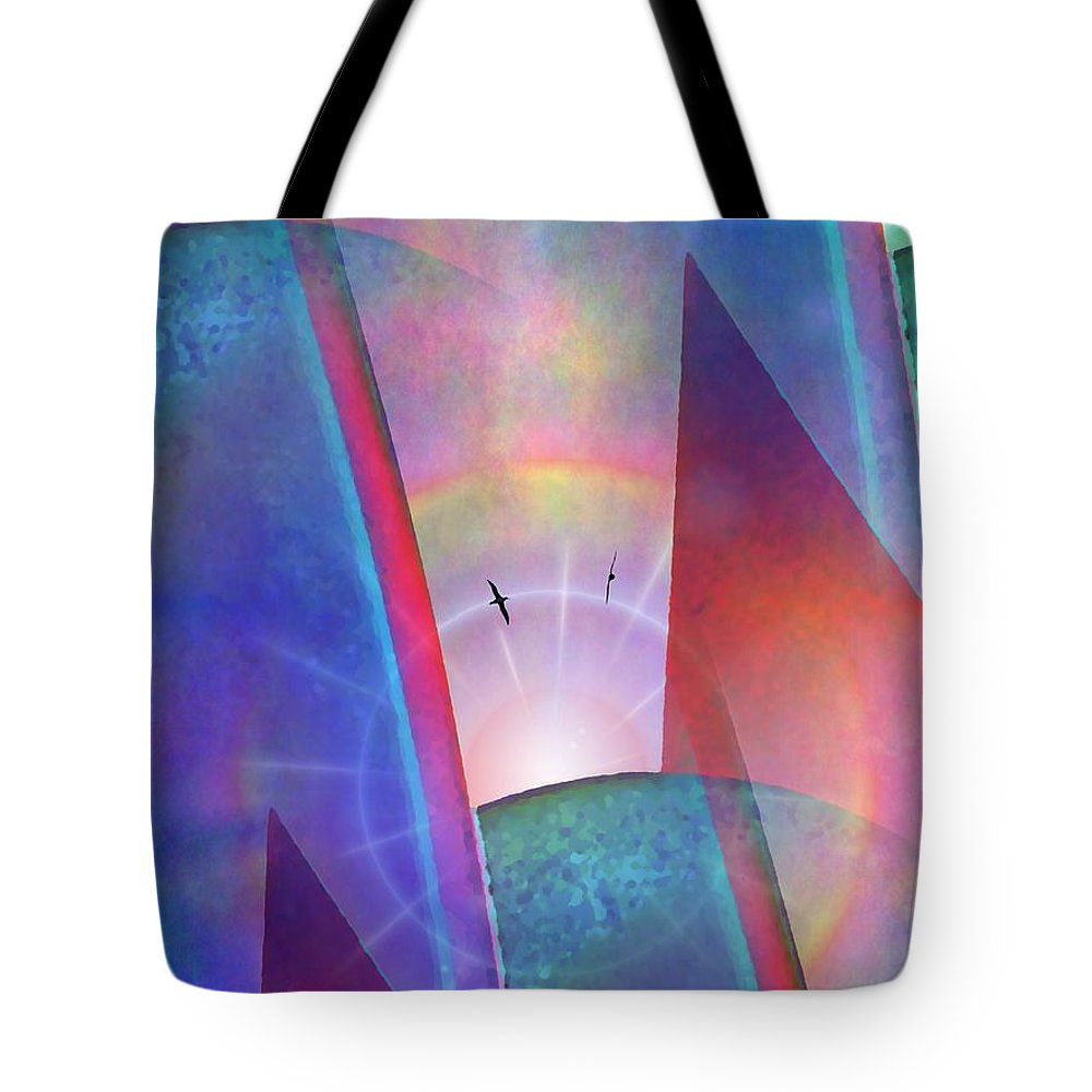 Albatross Tote Bag featuring the digital art Albatross Rising by Tim Allen