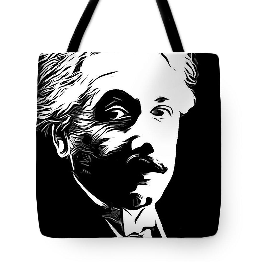 Einstein Tote Bag featuring the photograph Albert Einstein by Munir Alawi