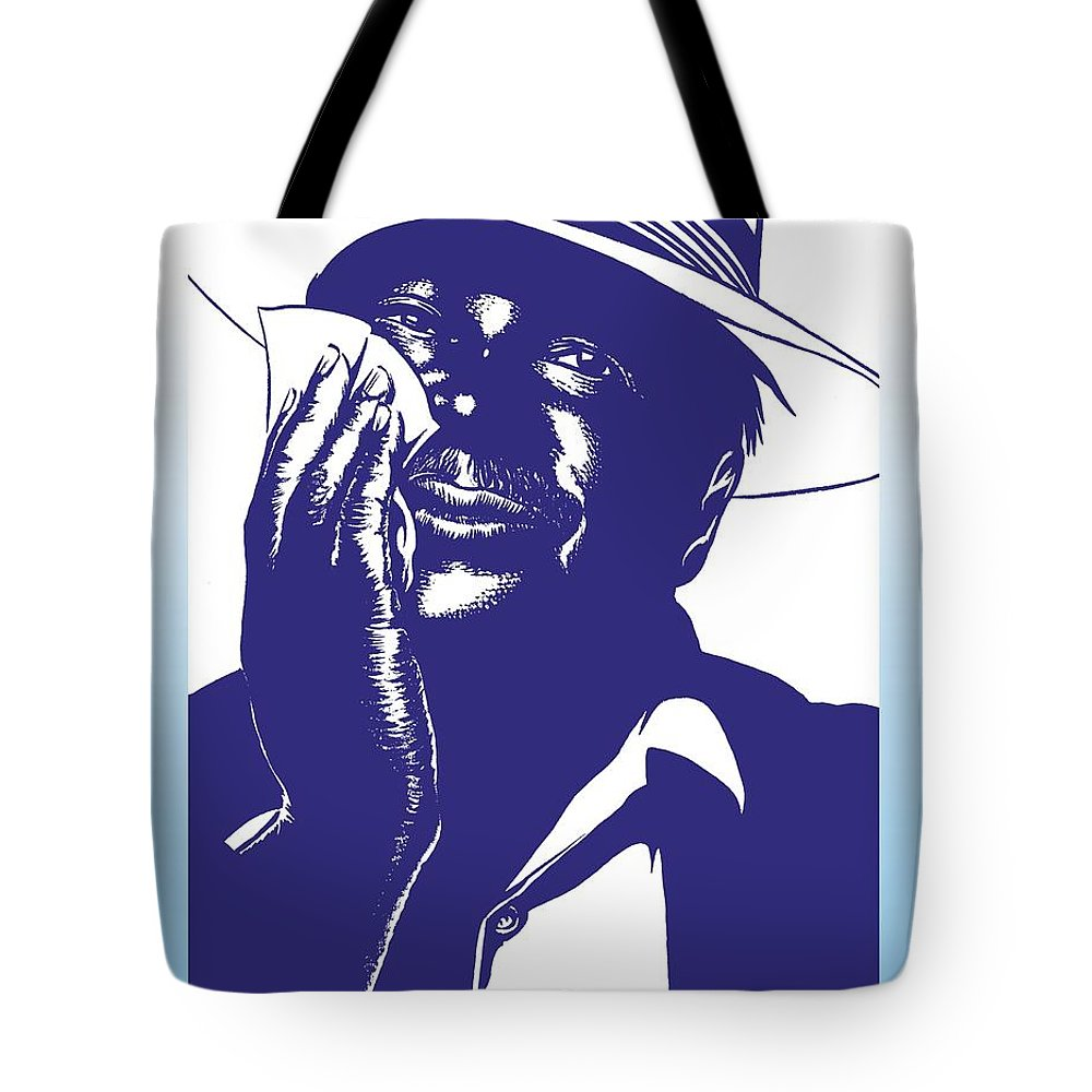 Albert Tote Bag featuring the drawing Albert King by Markus Neal Humby