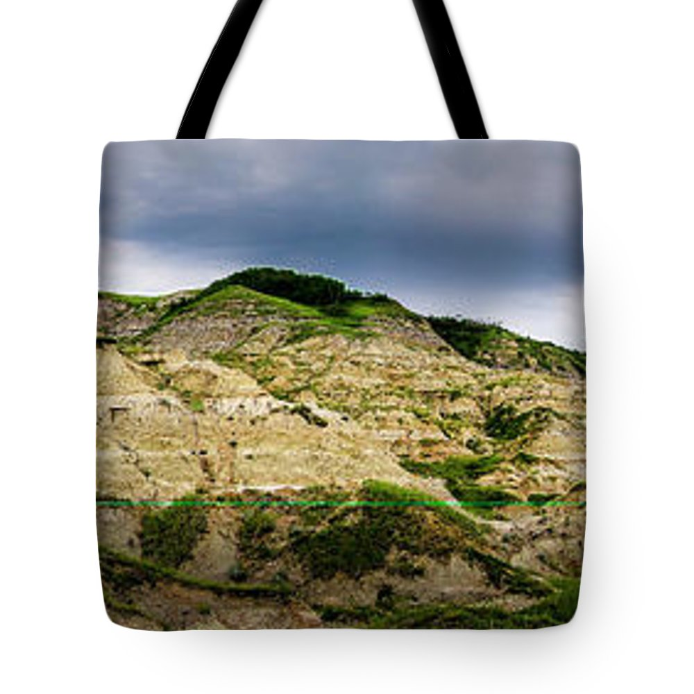 Hike Tote Bag featuring the photograph Alberta Badlands by Philip Rispin