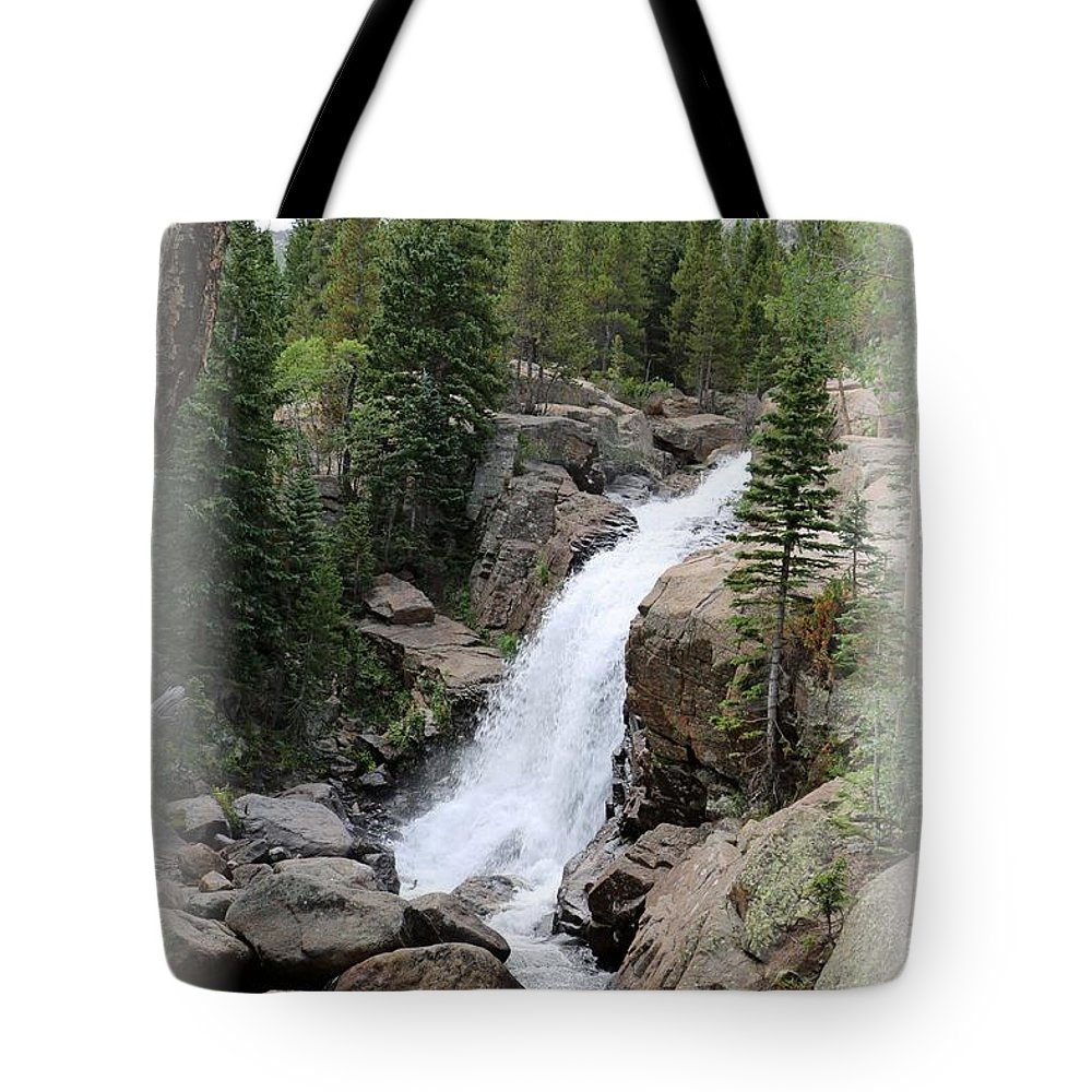 Alberta Falls Tote Bag featuring the photograph Alberta Falls 02 by Pamela Critchlow