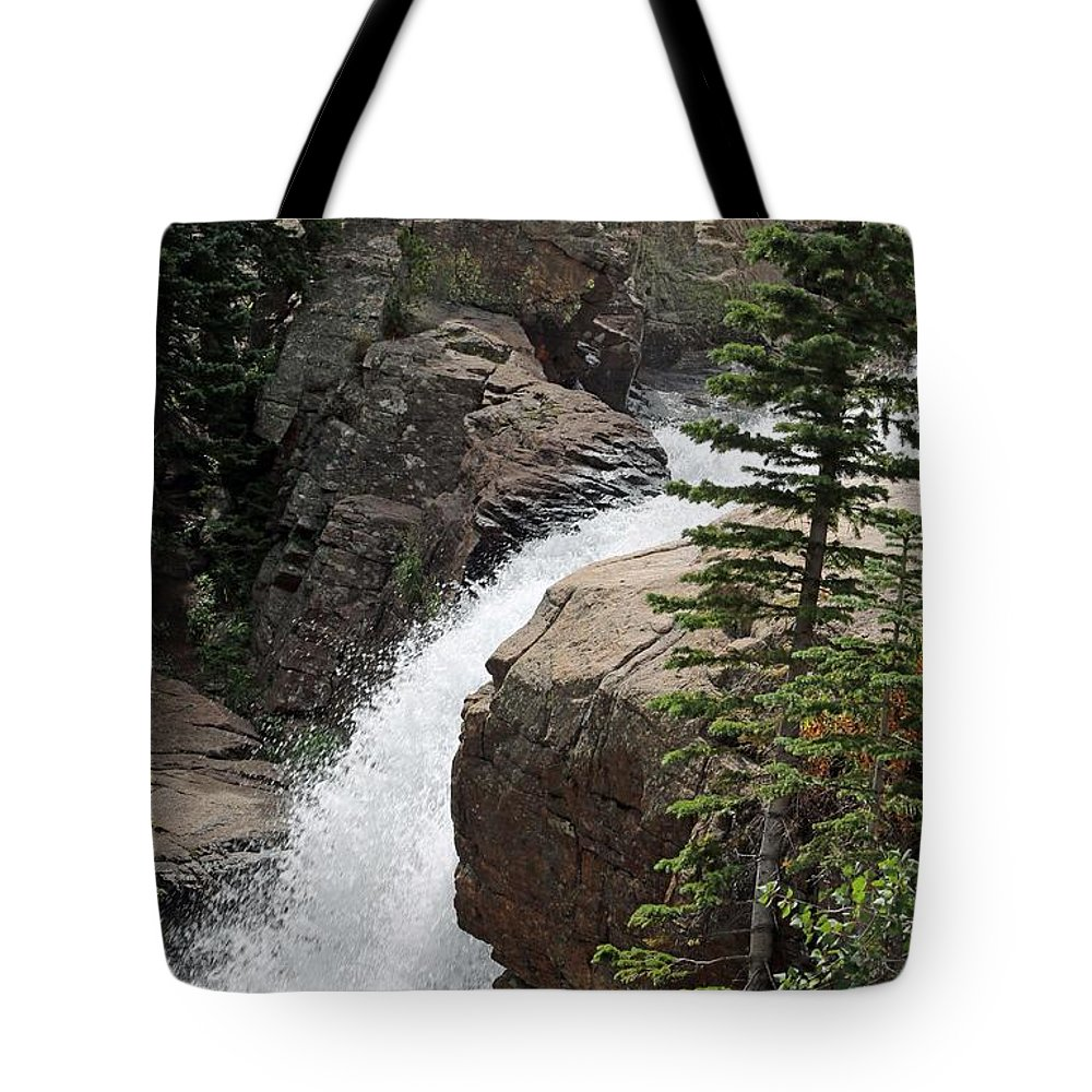 Alberta Falls Tote Bag featuring the photograph Alberta Falls 03 by Pamela Critchlow