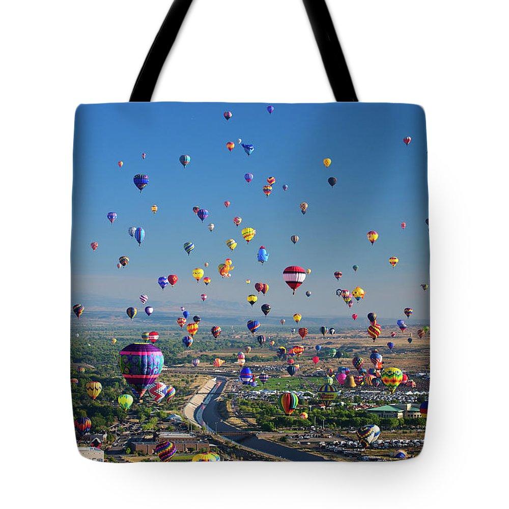 Abf Tote Bag featuring the photograph Albuquerque Balloon Fiesta by Tara Krauss
