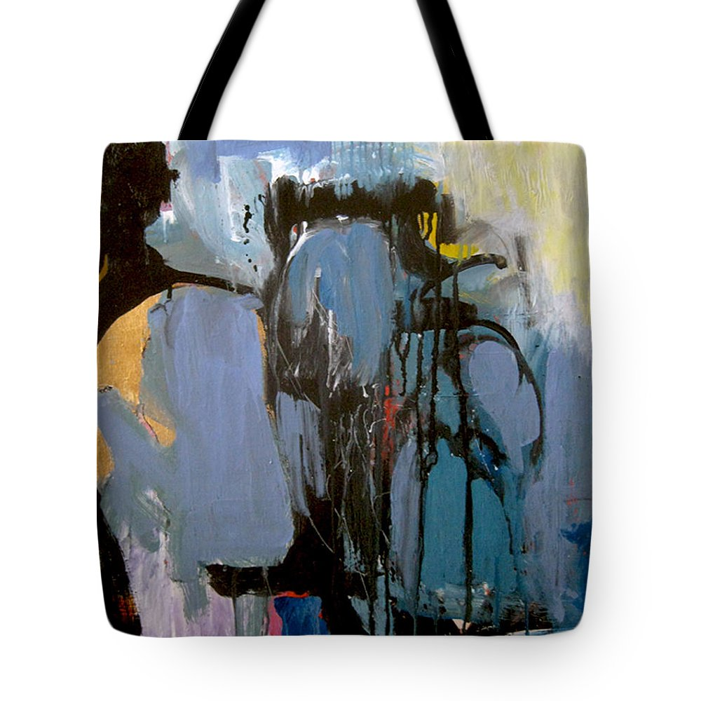 Abstract Acrylic Painting Tote Bag featuring the painting Alchemy by James Gallagher
