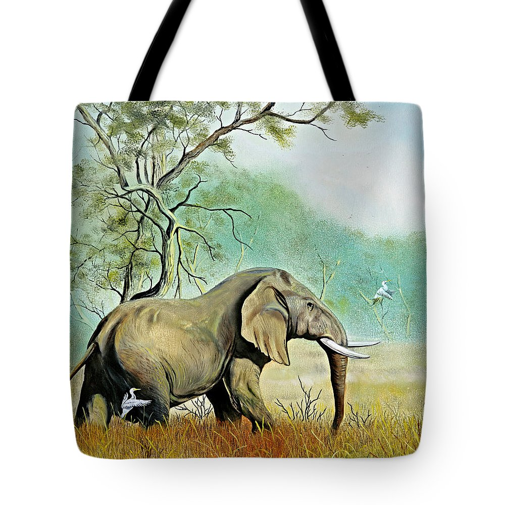 Wildlife Tote Bag featuring the painting Alert by Don Griffiths