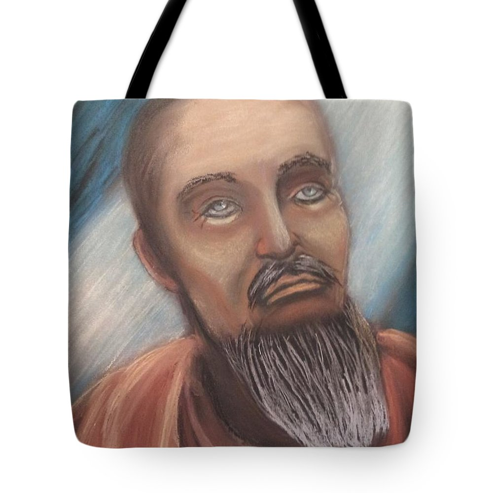 Portrait Tote Bag featuring the painting Alessandro by Janne Henn