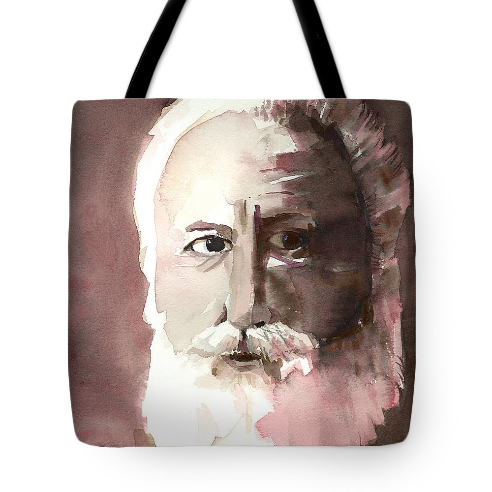 Alexander Graham Bell Tote Bag featuring the painting Alexander Graham Bell by Arline Wagner
