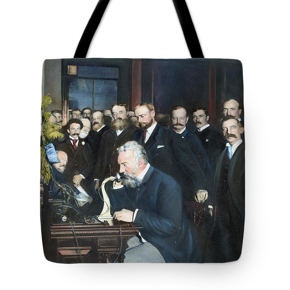 1892 Tote Bag featuring the photograph Alexander Graham Bell by Granger