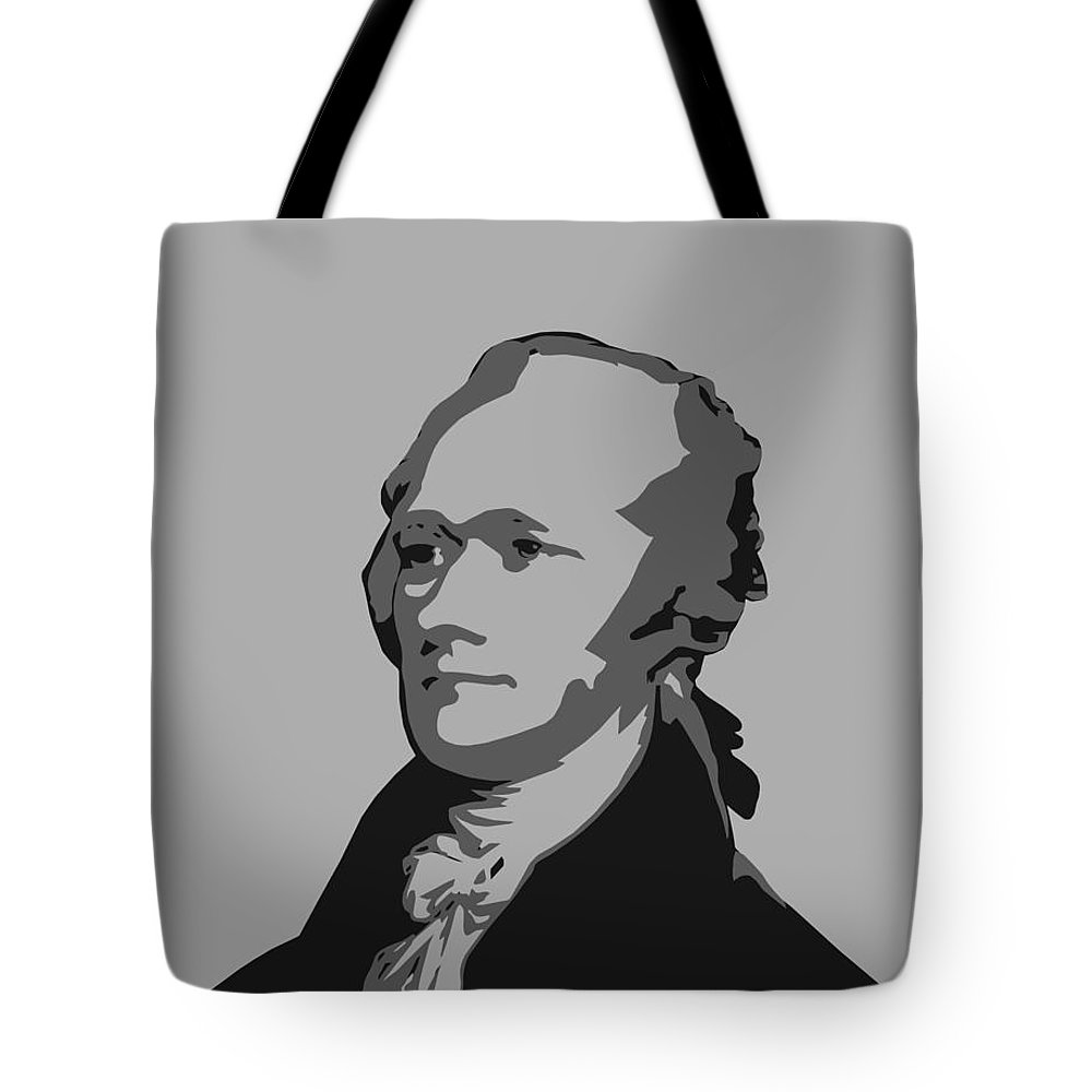 0d997992f17b Alexander Hamilton Tote Bag featuring the digital art Alexander Hamilton  Graphic by War Is Hell Store