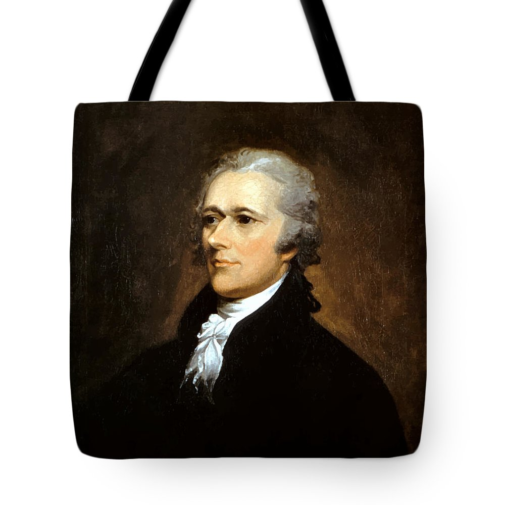 c6ec5a3cec93 Alexander Hamilton Tote Bag featuring the painting Alexander Hamilton by  War Is Hell Store