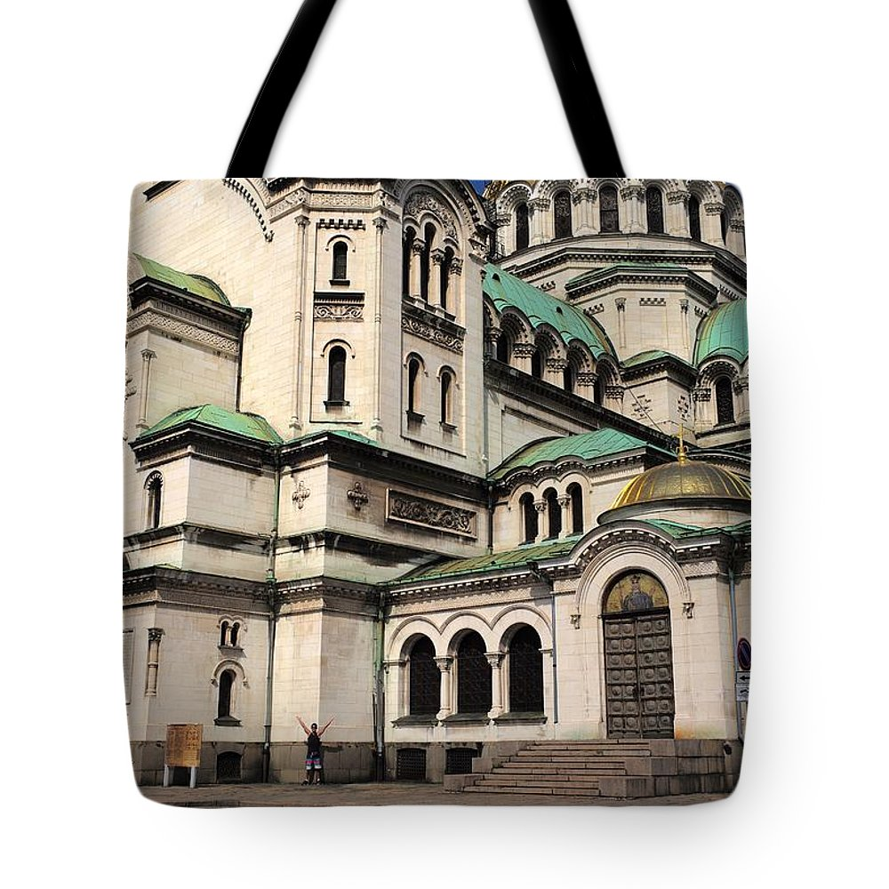 Sofia Tote Bag featuring the photograph Alexander Nevsky Cathedral by Piotr Kuzniar