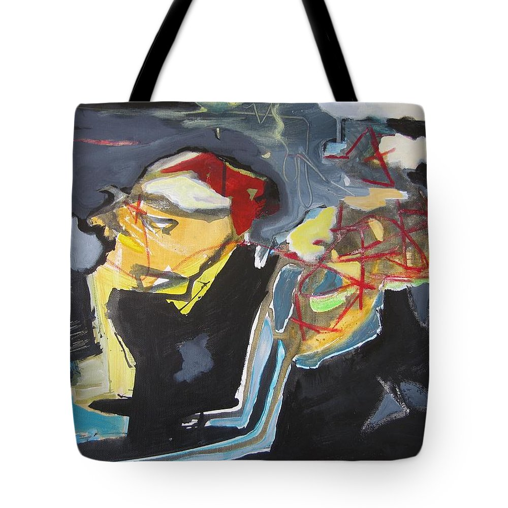 Abstract Paintings Tote Bag featuring the painting Alexander Trail by Seon-Jeong Kim