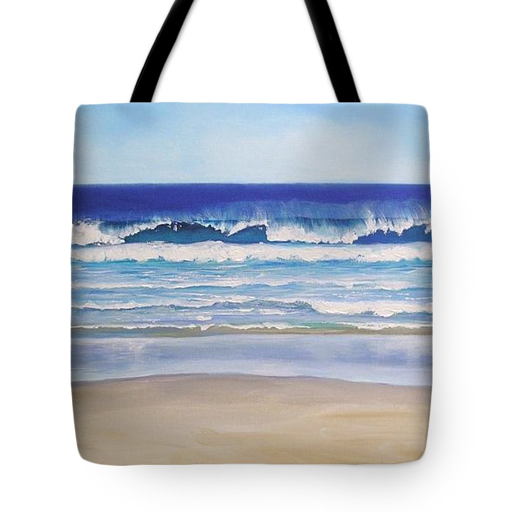 Seascape Tote Bag featuring the painting Alexandra Bay Noosa Heads Queensland Australia by Chris Hobel