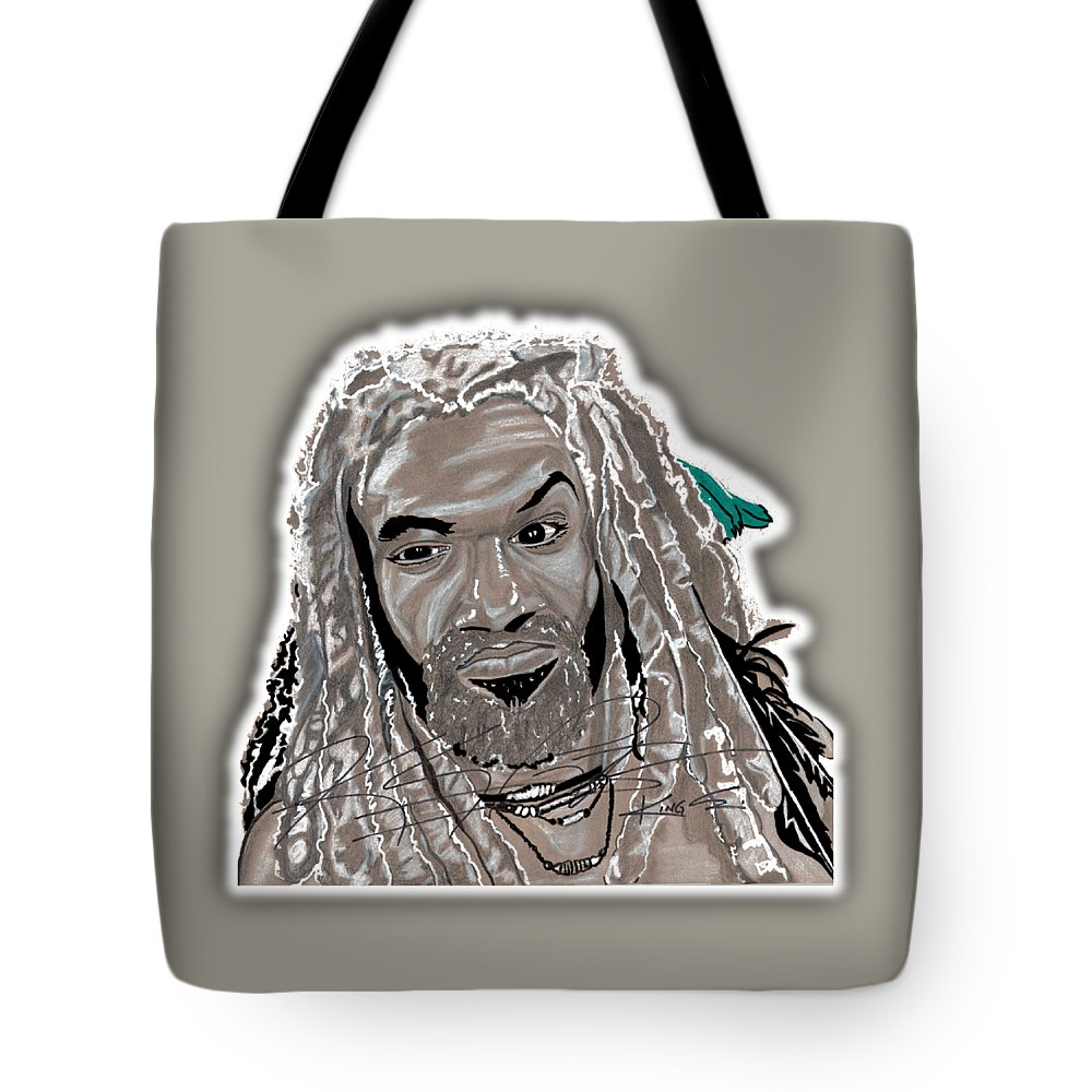 Twd Tote Bag featuring the drawing Alexandria Will Not Fall by Oscar Rodriguez III