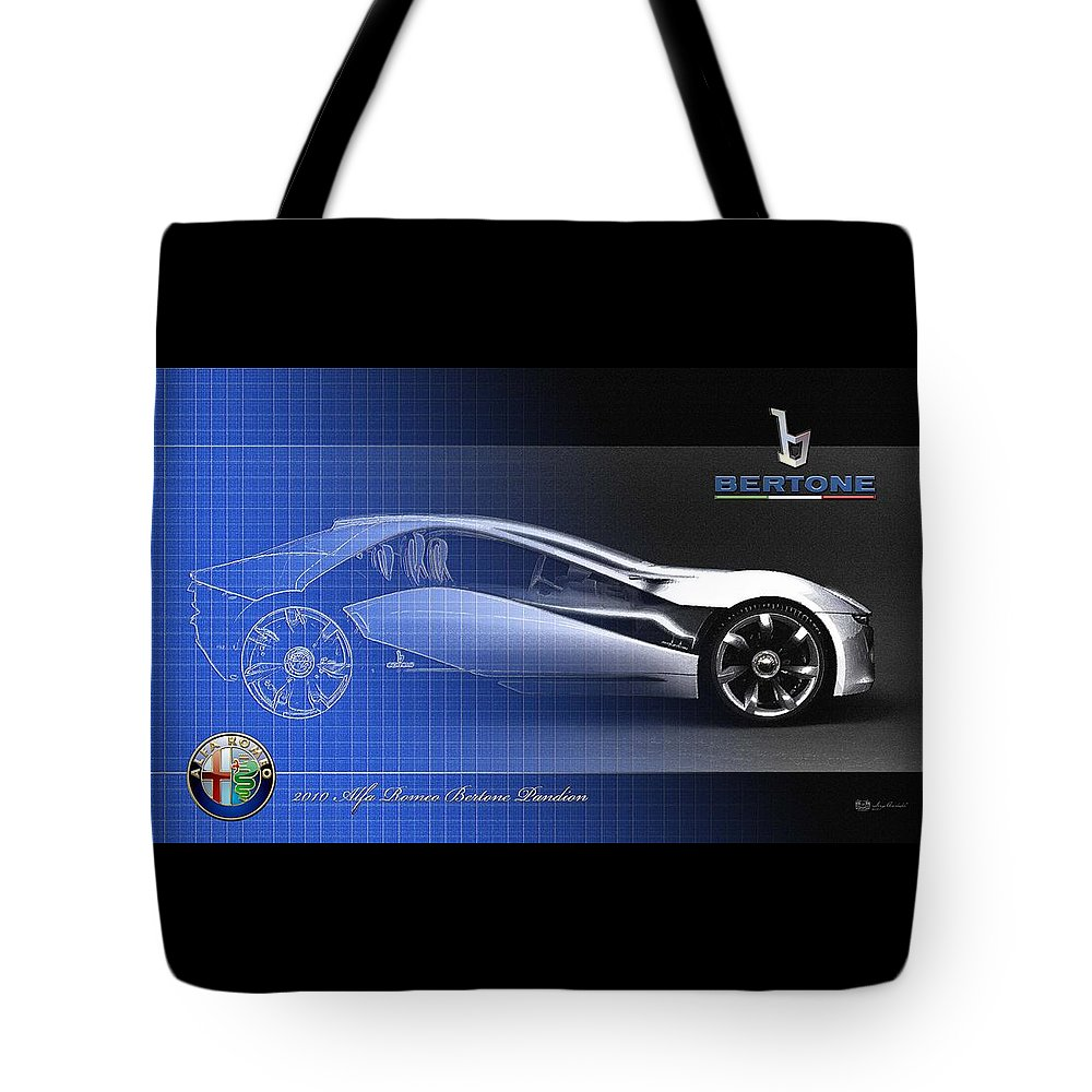 Wheels Of Fortune By Serge Averbukh Tote Bag featuring the photograph Alfa Romeo Bertone Pandion Concept by Serge Averbukh