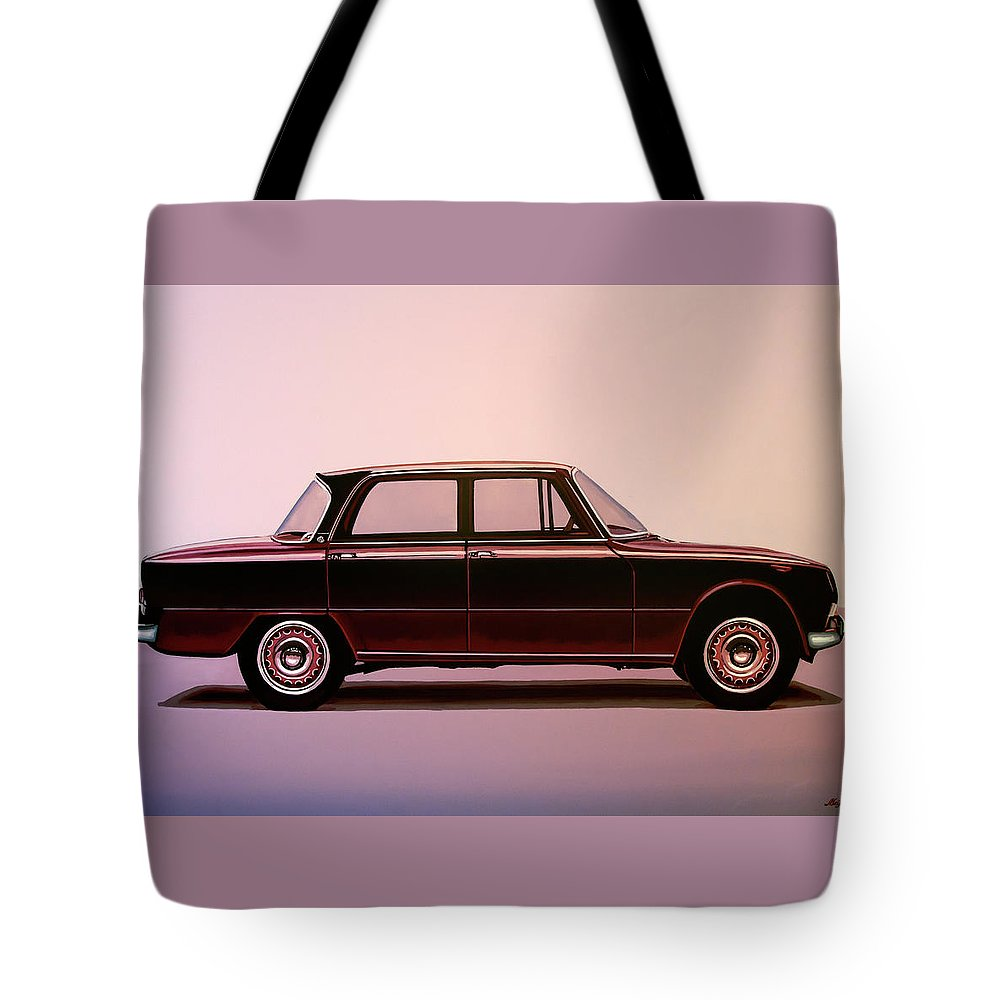 Alfa Romeo Giulia Super 1967 Painting Tote Bag For Sale By