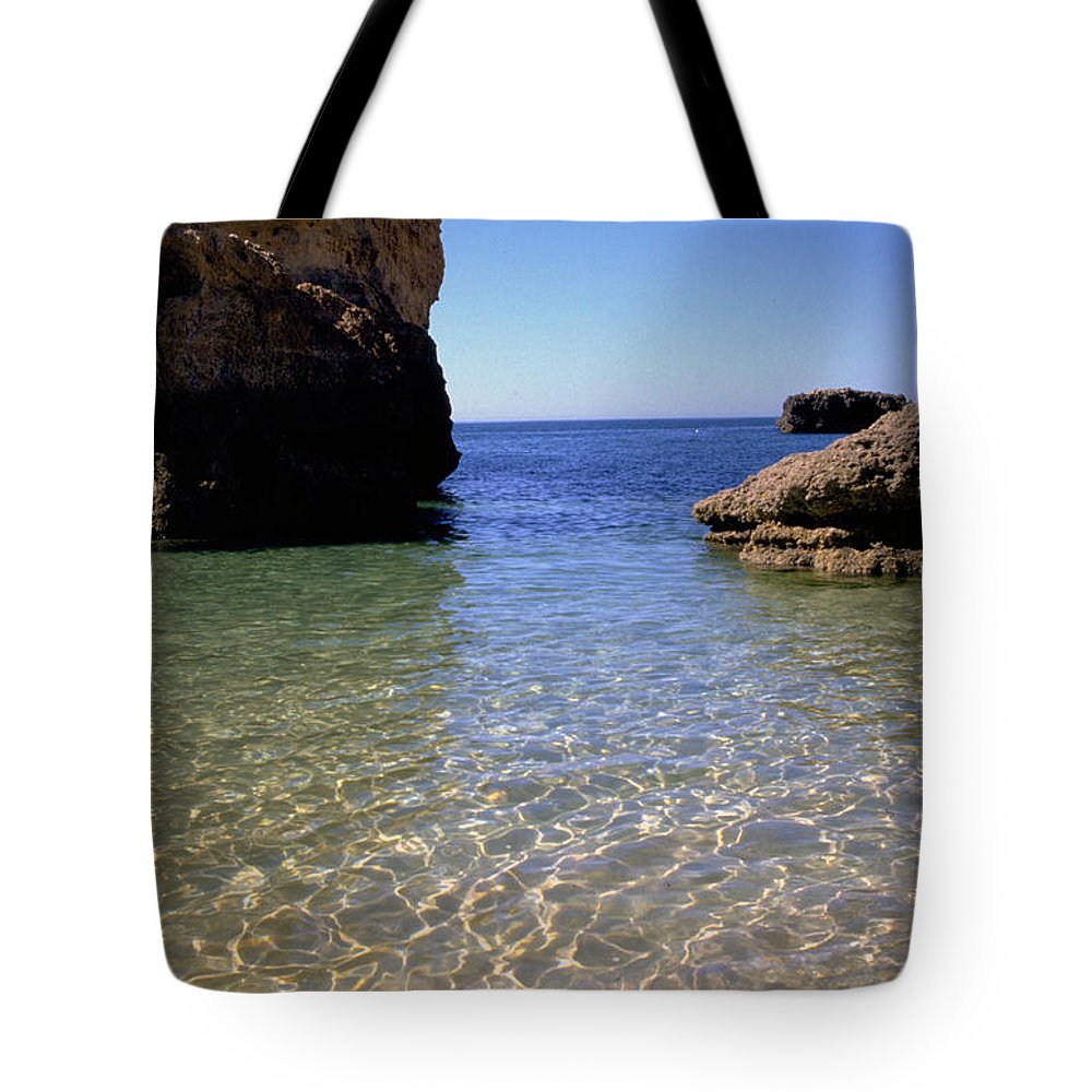 Algarve Tote Bag featuring the photograph Algarve I by Flavia Westerwelle