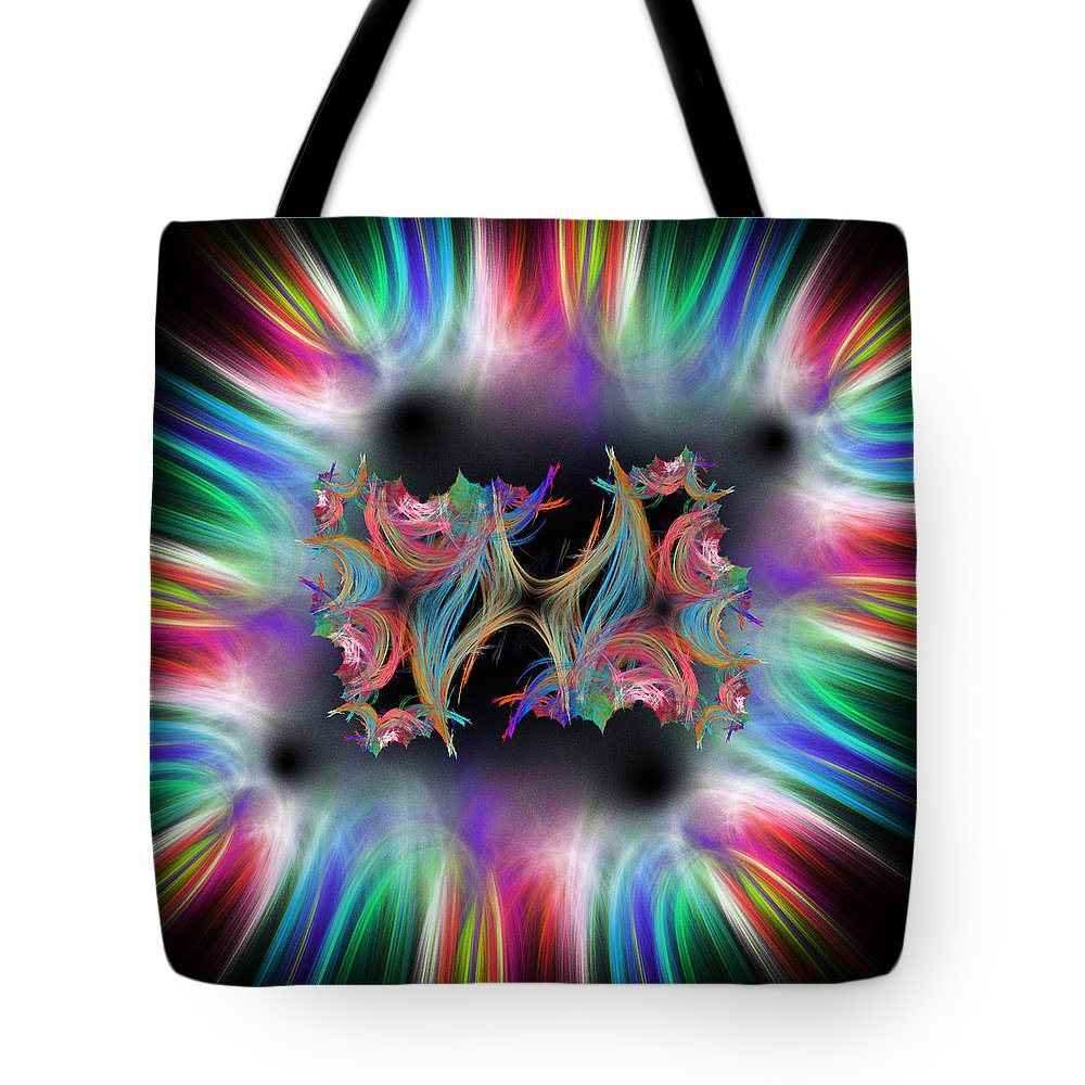 Abstract Tote Bag featuring the digital art Algonquent by Andrew Kotlinski
