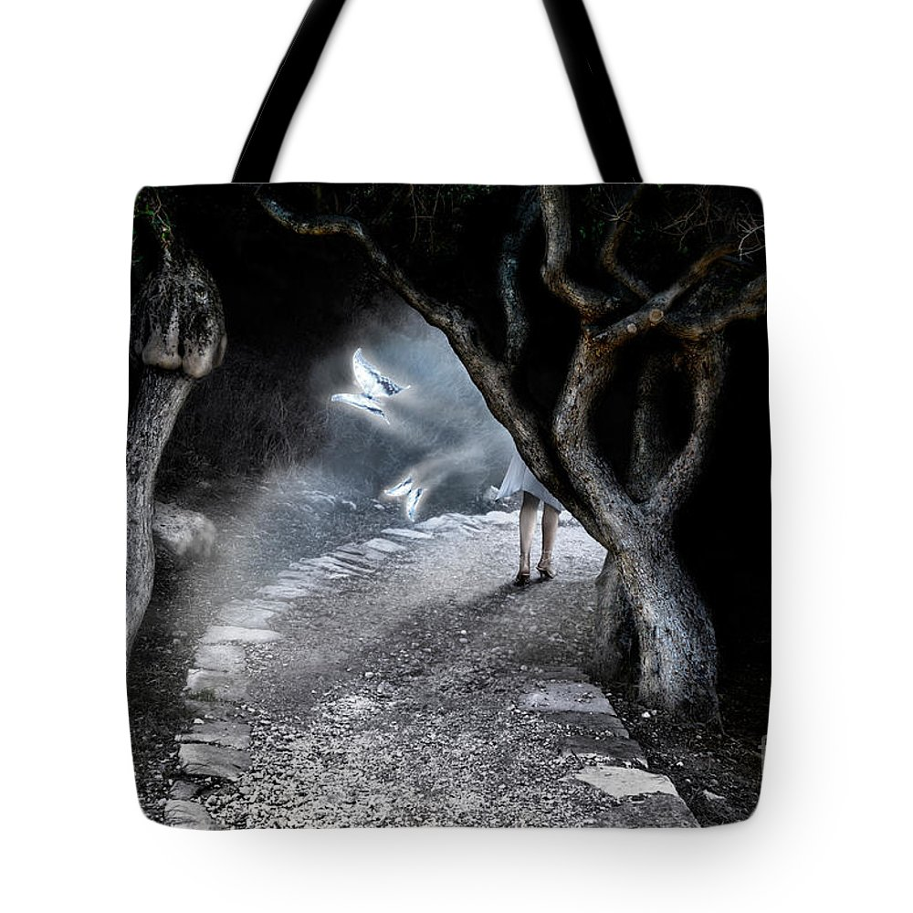 Fairy Tote Bag featuring the photograph Alice In Wonderland by Oleksiy Maksymenko