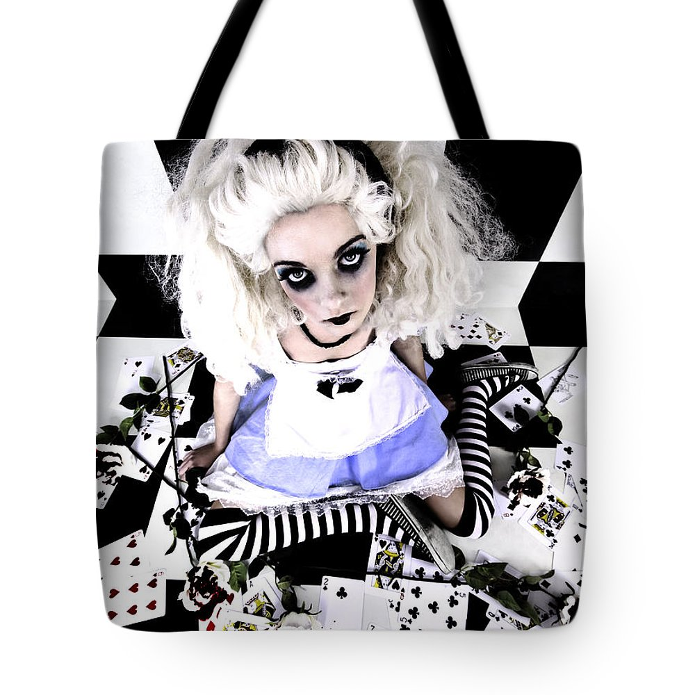 Alice In Wonderland Tote Bag featuring the photograph Alice1 by Kelly Jade King