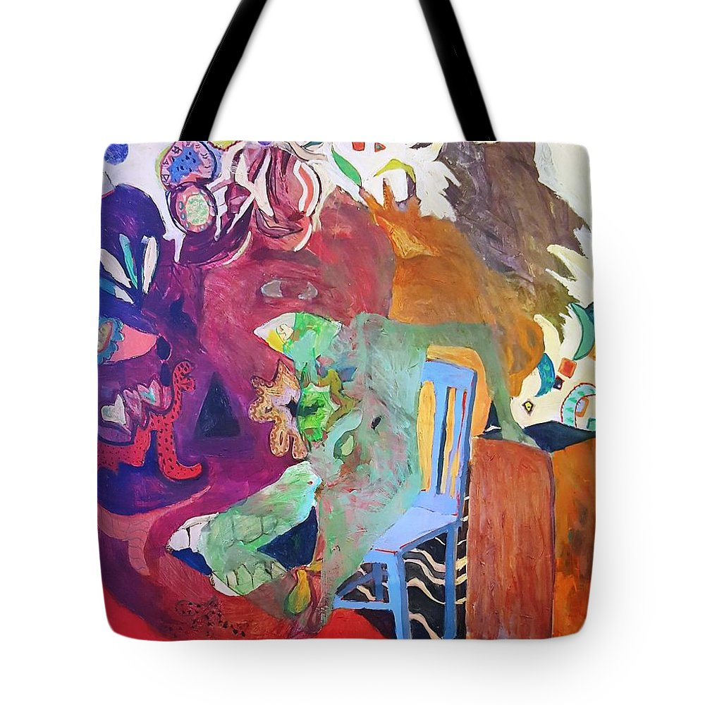 Tote Bag featuring the painting Alice..to The Moon by Susan Price