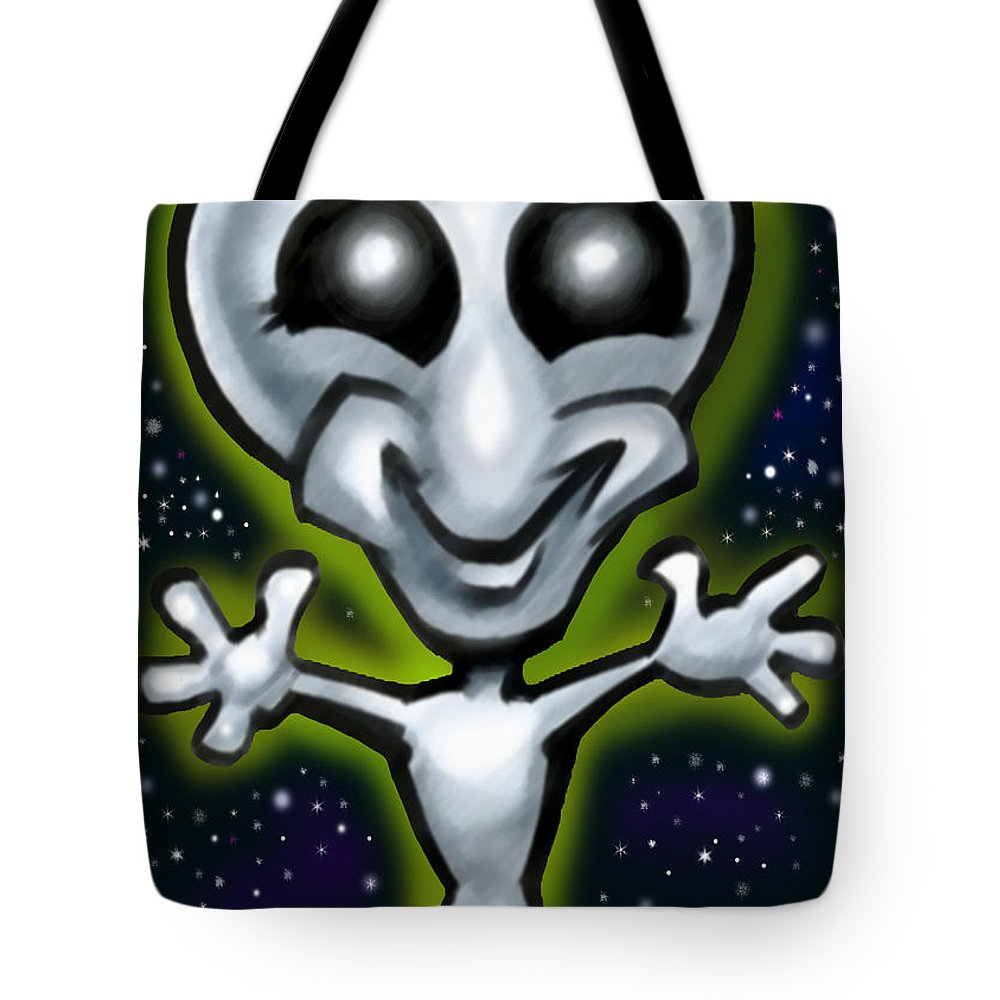 Alien Tote Bag featuring the digital art Alien by Kevin Middleton
