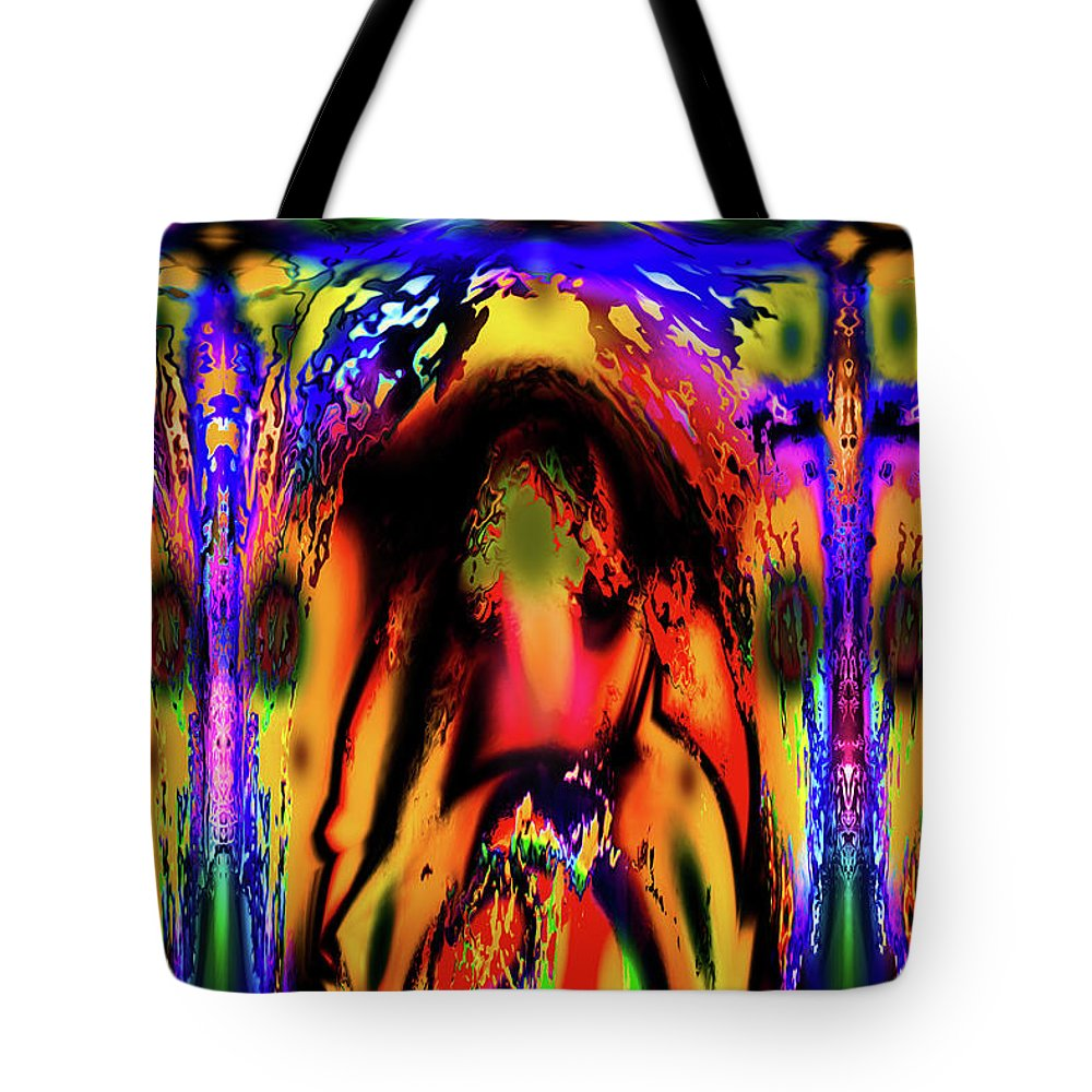 World's Tote Bag featuring the digital art Alien Lock Up by Ron Fleishman