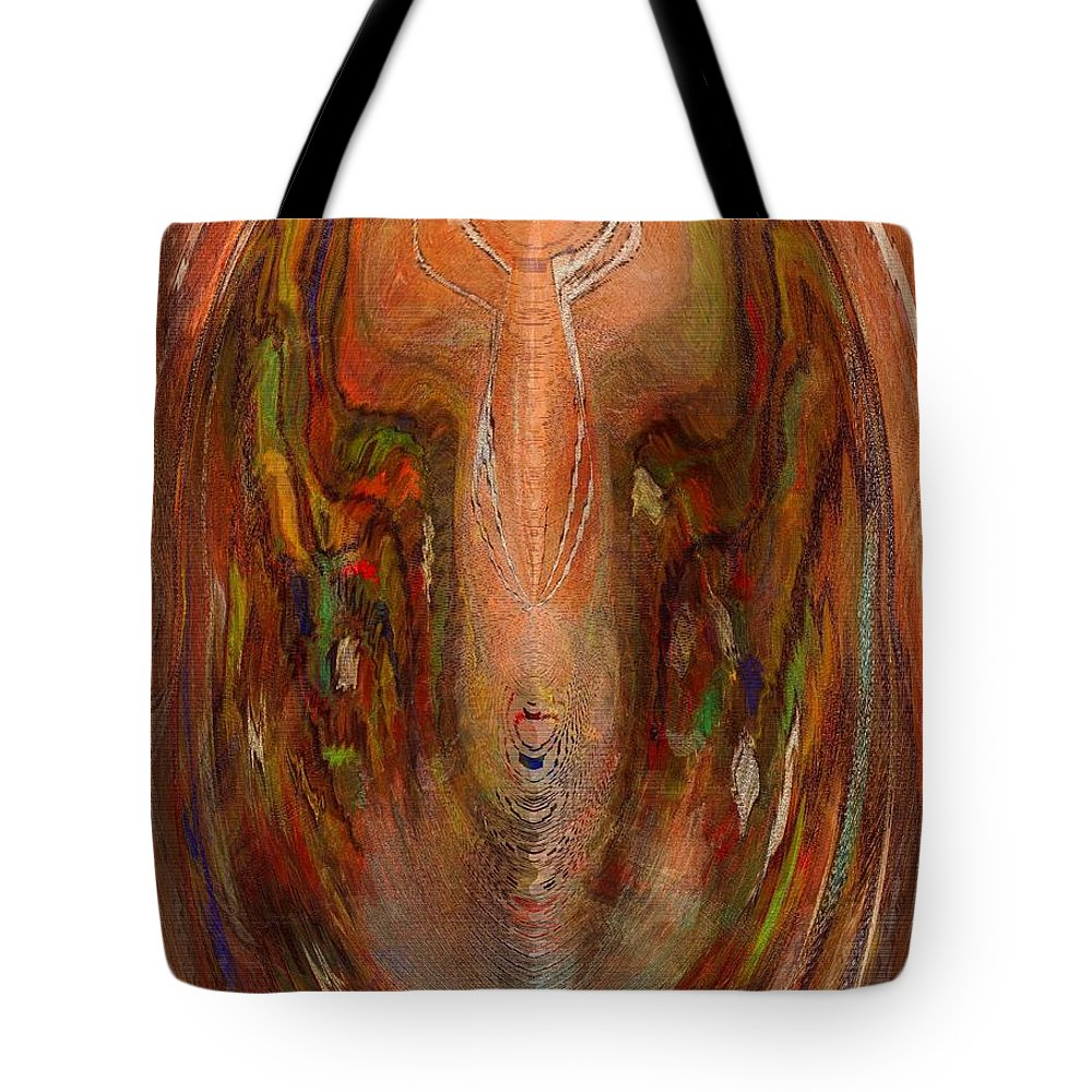 Alien Tote Bag featuring the digital art Alien by Melvin Moon