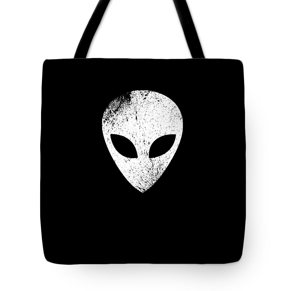 Abduct Tote Bag featuring the digital art Alien Ufo Science Gift by Michael S