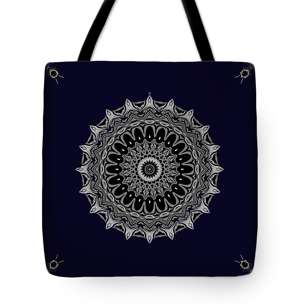 Digital Tote Bag featuring the digital art Aliens And The Spaceship by Joy McKenzie