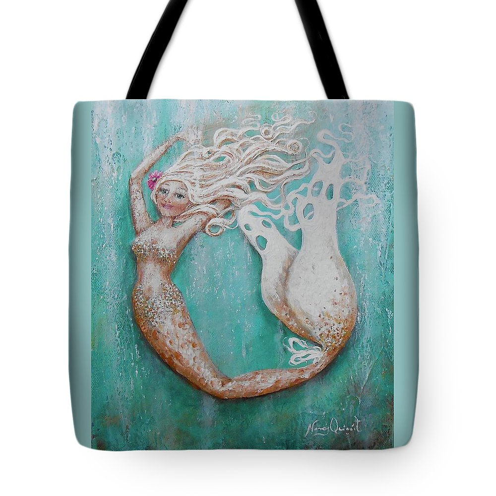 Tote Bag featuring the painting Alisa by Nancy Quiaoit