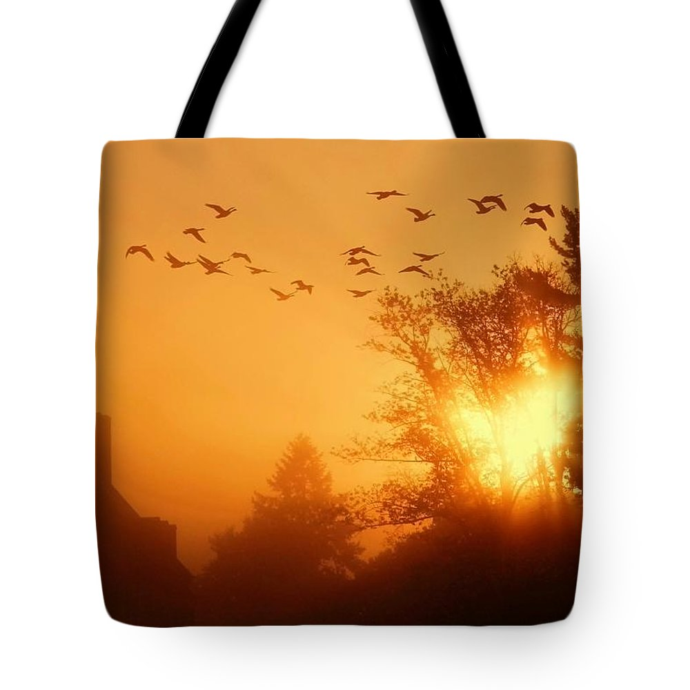 Sunrise Tote Bag featuring the photograph Alive by Mitch Cat