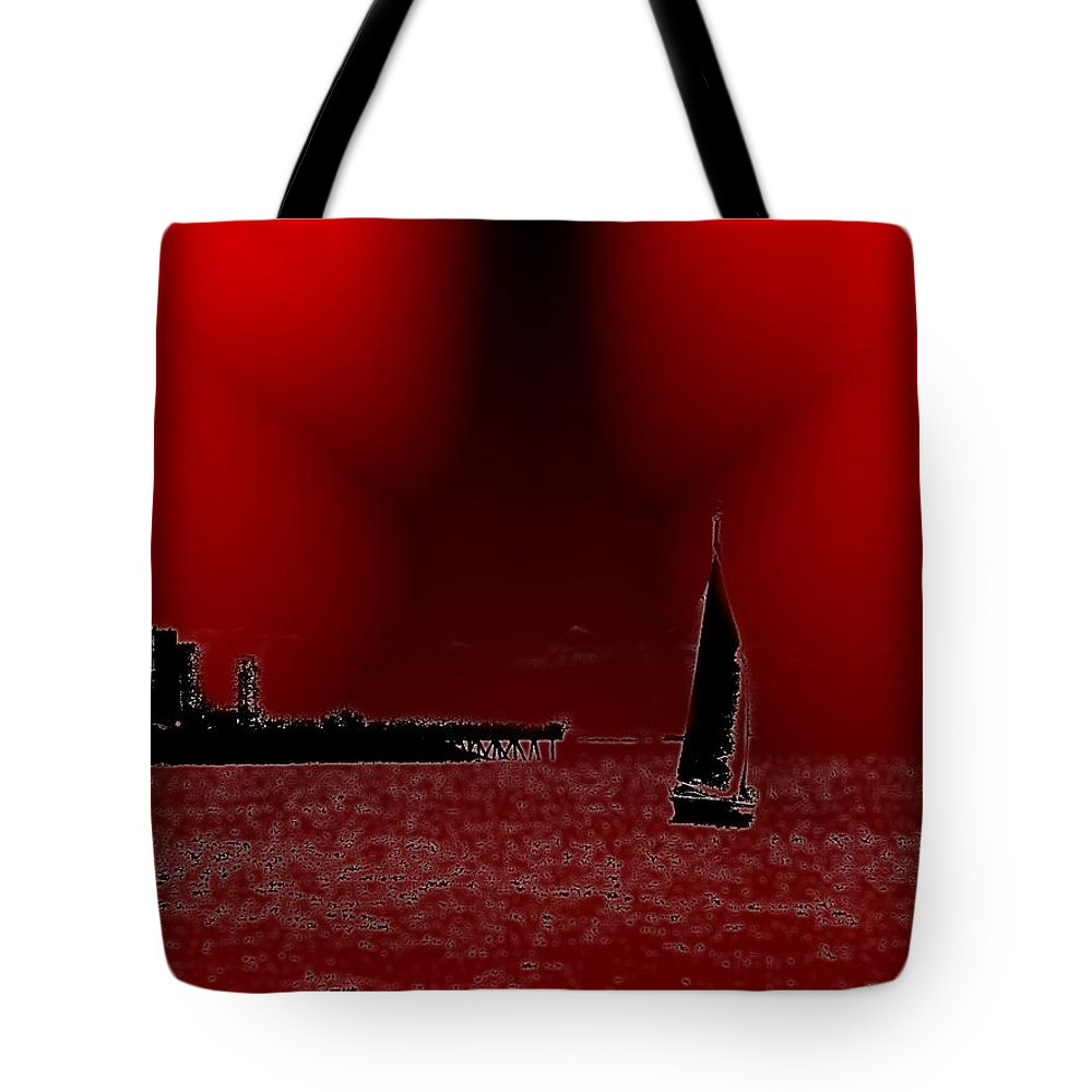 Seattle Tote Bag featuring the photograph Alki Sail 5 by Tim Allen
