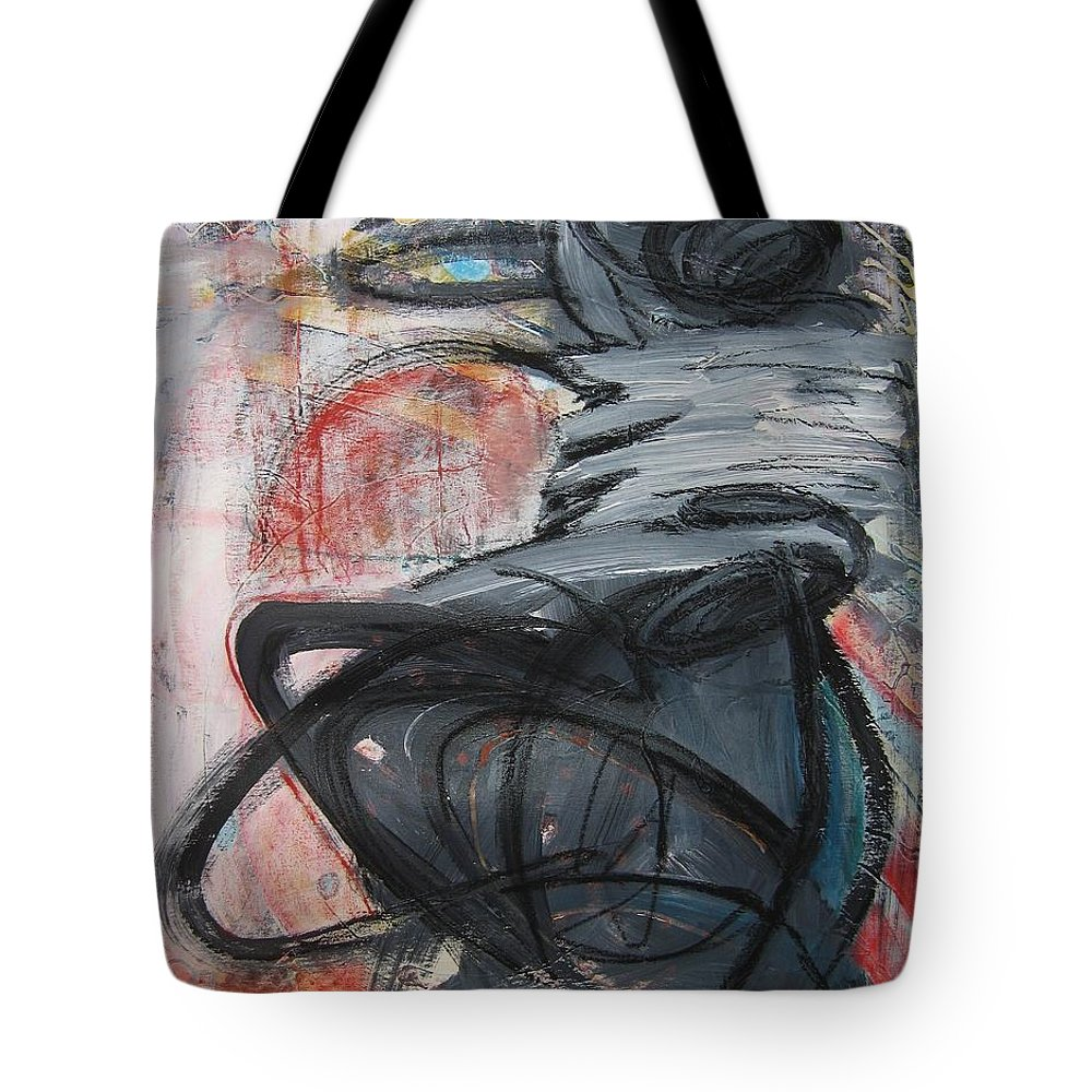 Abstract Paintings Paintings Tote Bag featuring the painting All Alone by Seon-Jeong Kim