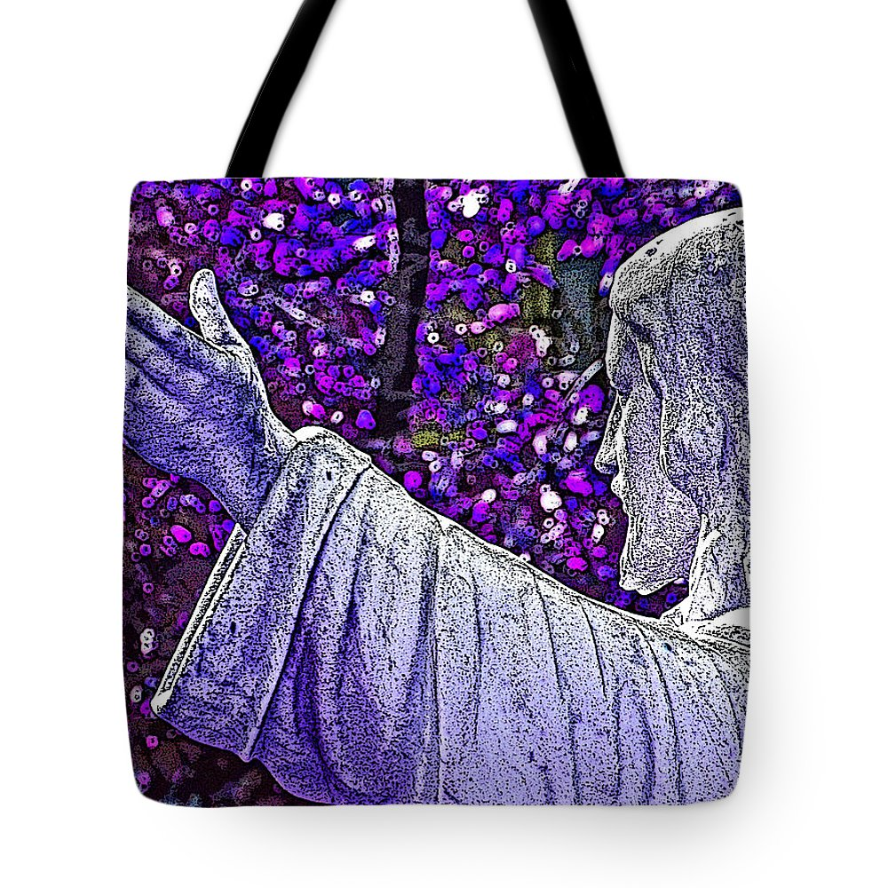Religion Tote Bag featuring the photograph All Are Welcome by Donna Shahan